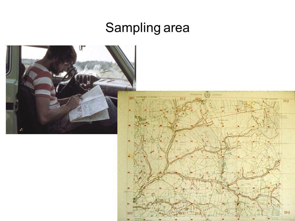 Sampling area