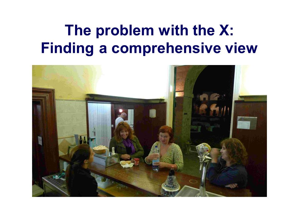 The problem with the X: Finding a comprehensive view