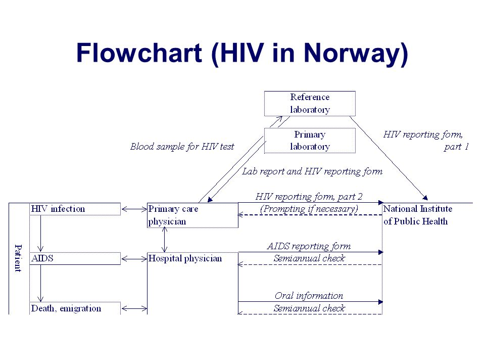 Flowchart (HIV in Norway)