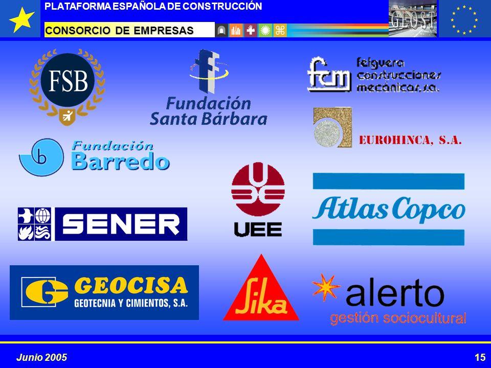 PROYECTOS ESTRATÉGICOS PLATAFORMA ESPAÑOLA DE CONSTRUCCIÓN 15Junio 2005 CONSORCIO DE EMPRESAS