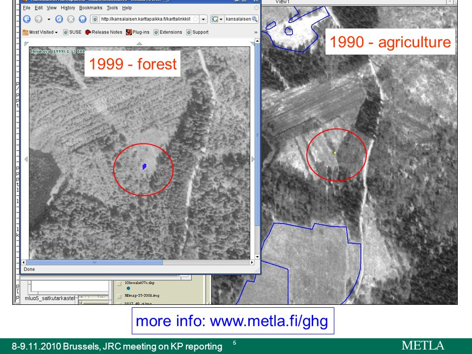 more info: www.metla.fi/ghg 8-9.11.2010 Brussels, JRC meeting on KP reporting 5 1999 - forest 1990 - agriculture