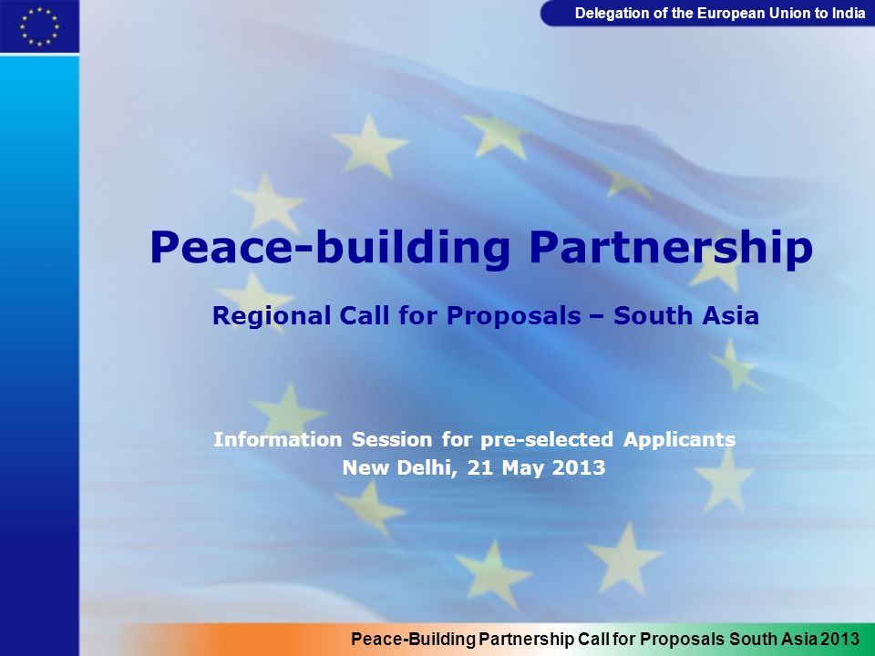 Delegation of the European Union to India Results-oriented Logframe Intervention logic Objectively verifiable indicators of achievement Sources and means of verification Assumptions Overall objective What is the overall broader objective to which the action will contribute.