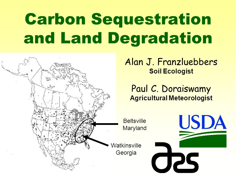 Carbon Sequestration and Land Degradation Alan J. Franzluebbers Soil Ecologist Paul C.