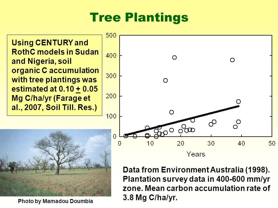 Tree Plantings Data from Environment Australia (1998).