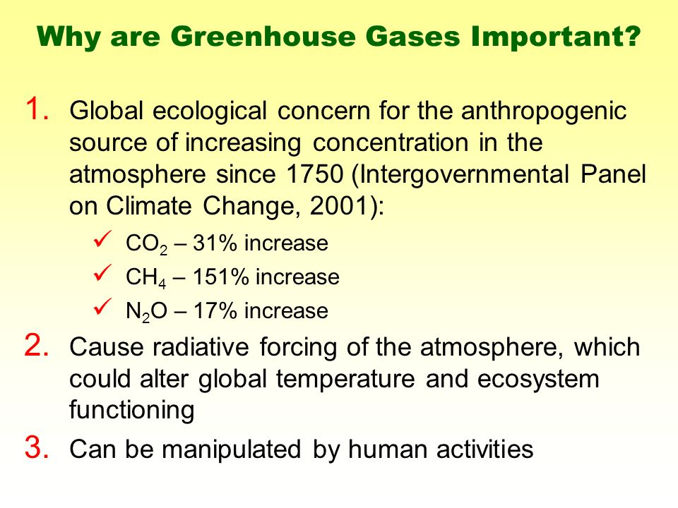 Why are Greenhouse Gases Important. 1.