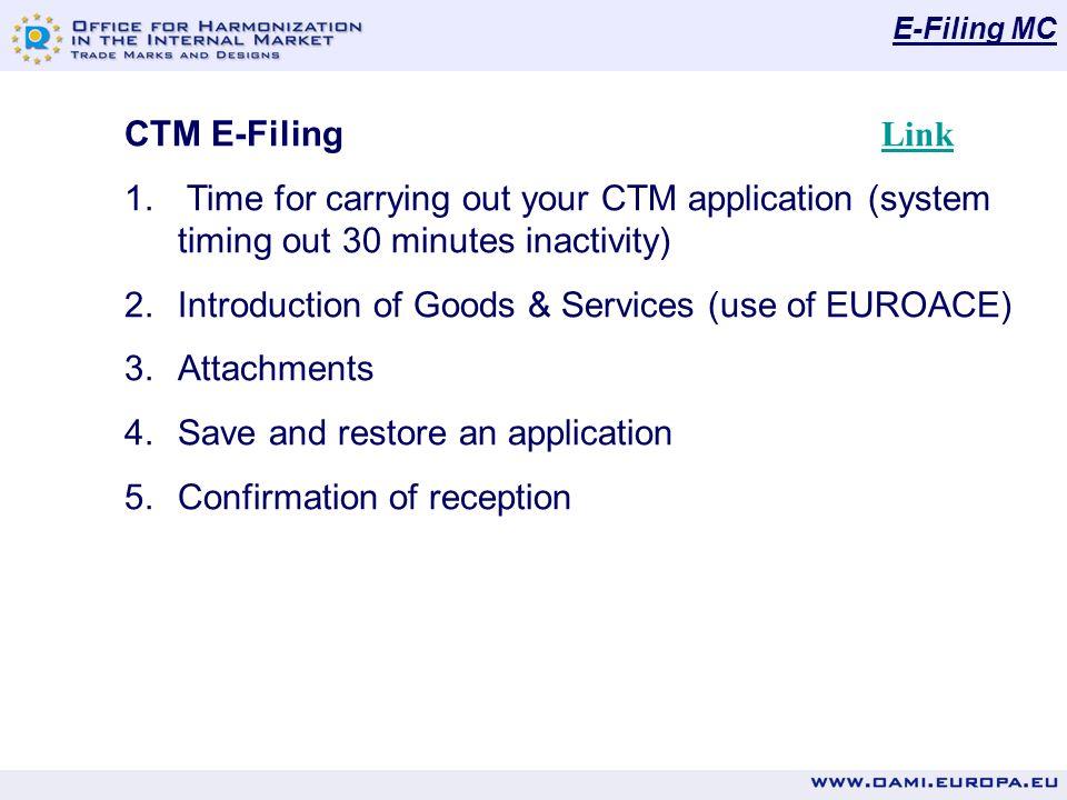 E-Filing MC CTM E-Filing Link Link 1.
