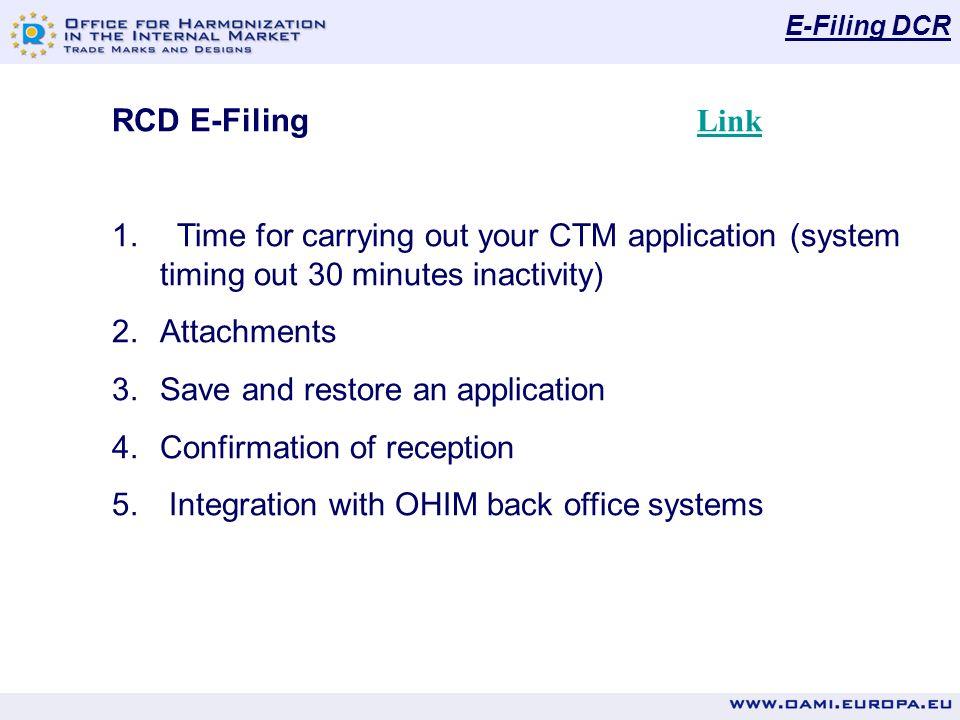 E-Filing DCR RCD E-Filing Link Link 1.