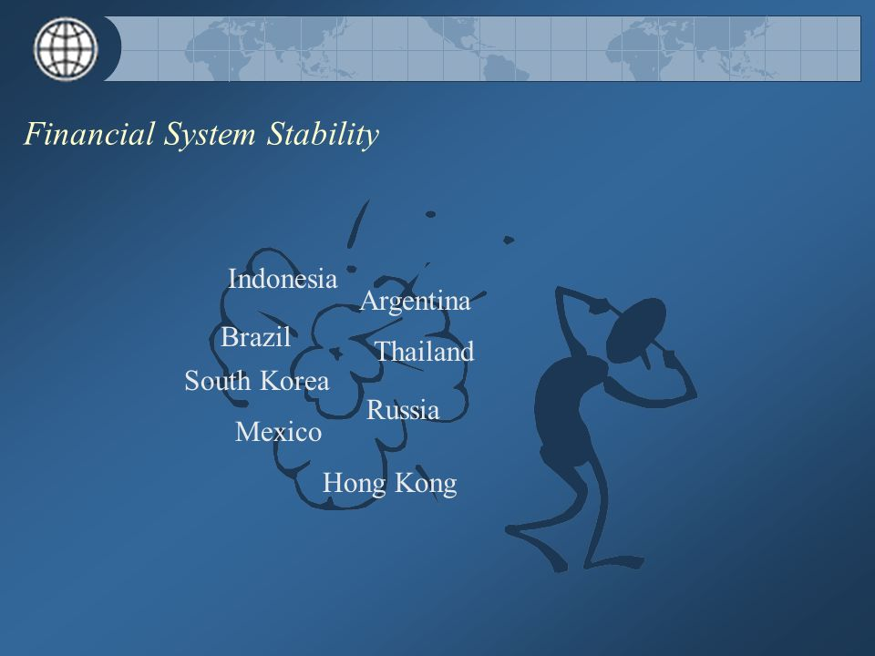 Financial System Stability Brazil Argentina Mexico Thailand Russia Indonesia South Korea Hong Kong