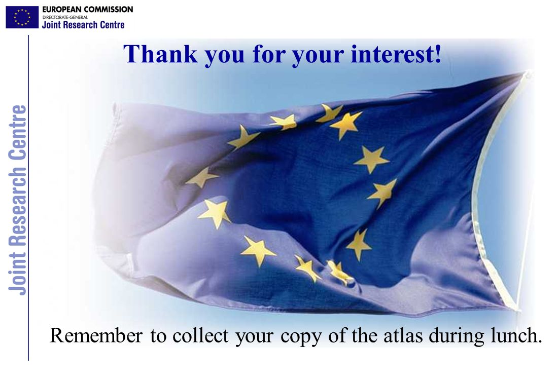 Thank you for your interest! Remember to collect your copy of the atlas during lunch.