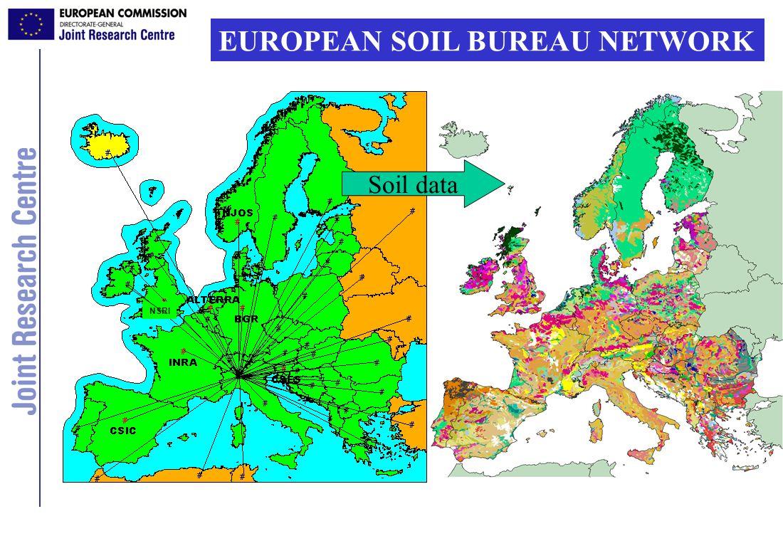 EUROPEAN SOIL BUREAU NETWORK NSRI Soil data