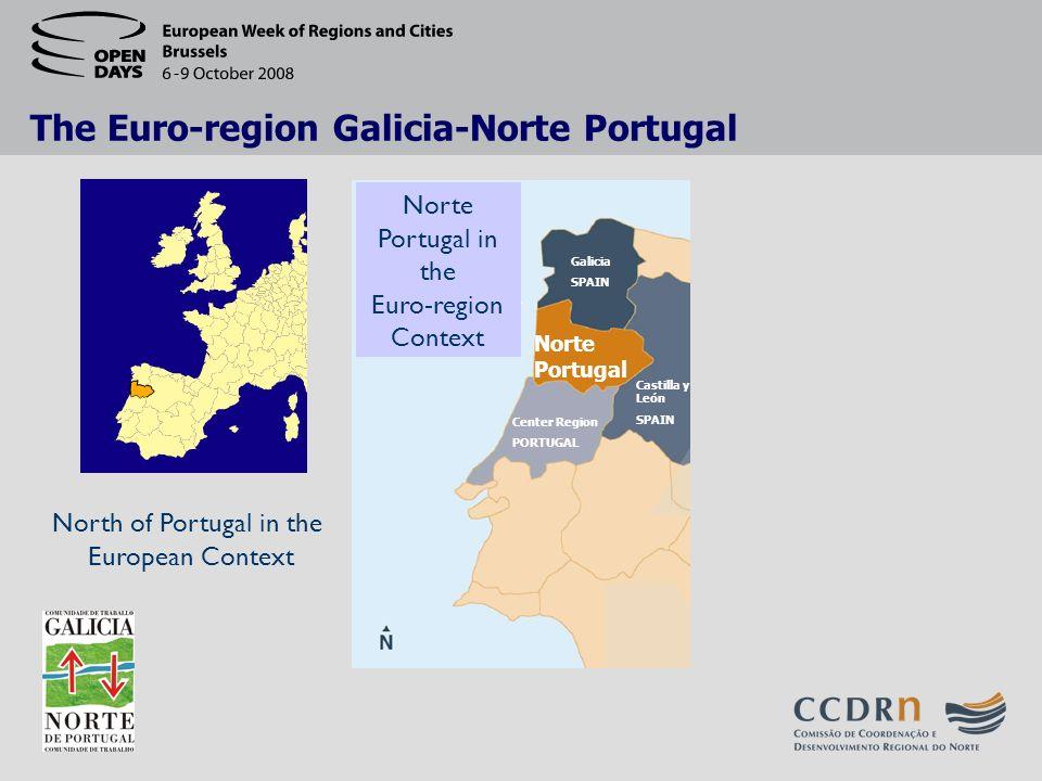 The Euro-region Galicia-Norte Portugal North of Portugal in the European Context Norte Portugal Galicia SPAIN Castilla y León SPAIN Center Region PORTUGAL Norte Portugal in the Euro-region Context