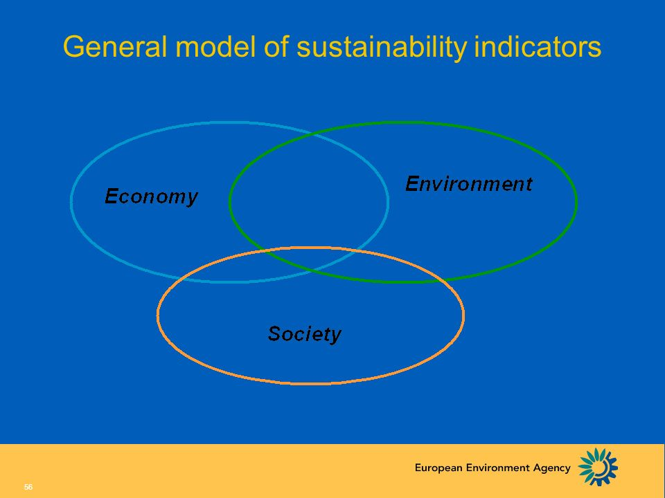 55 5. A few thoughts on sustainability indicators General model Some critical points for SD indicators