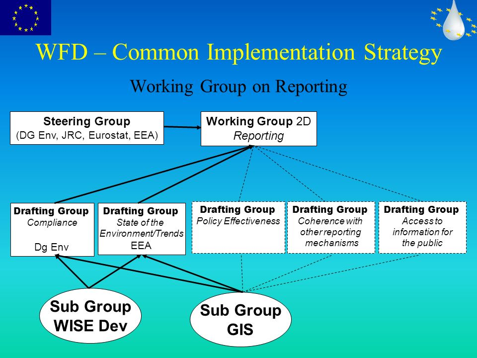 Reporting requirements of the WFD
