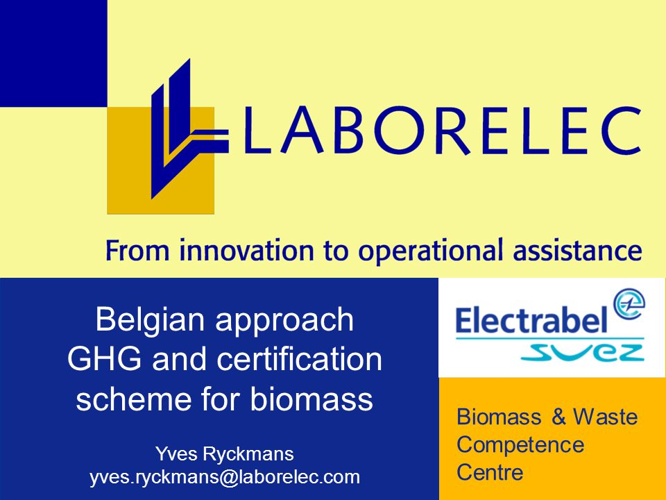 LABORELEC Biomass and Waste Competence Centre © Laborelec – 2008 – 2 Liège RODENHUIZE 80 MW = 25% Gent LES AWIRS 80 MW = 100% WOOD PELLETS about 700 kt/y Both plants commissioned in Aug 2005