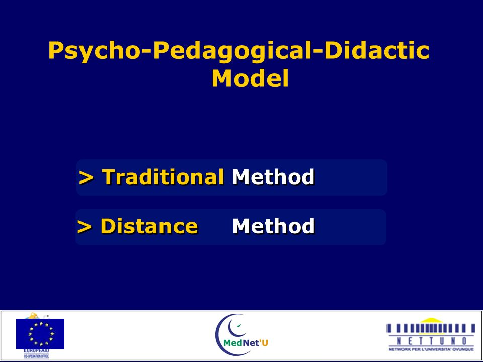 Psycho-Pedagogical-Didactic Model > Traditional Method > Distance Method