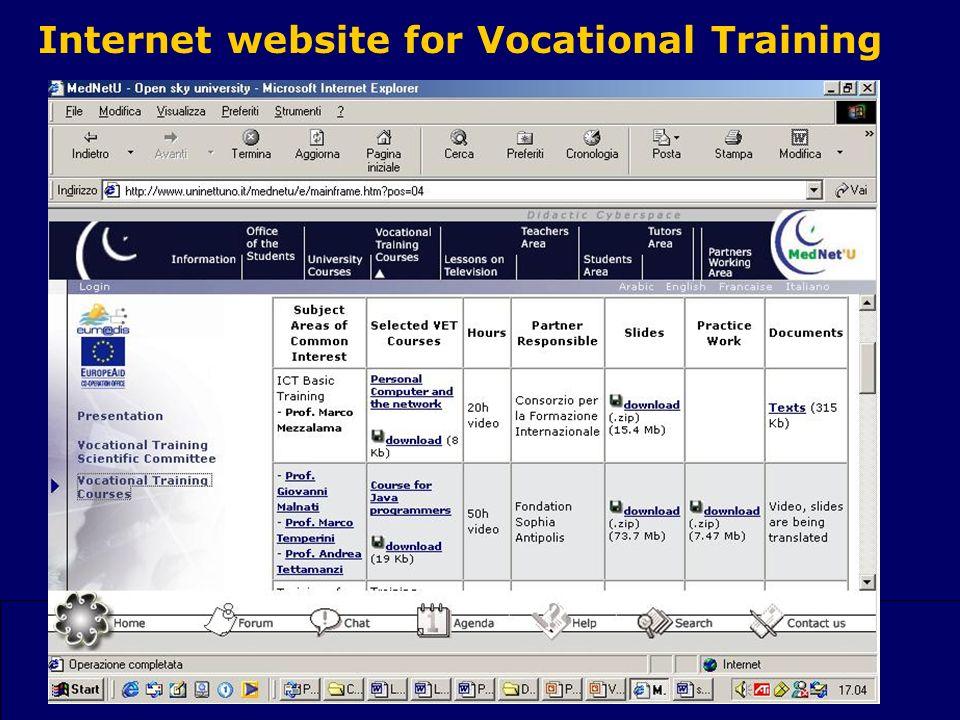 Internet website for Vocational Training