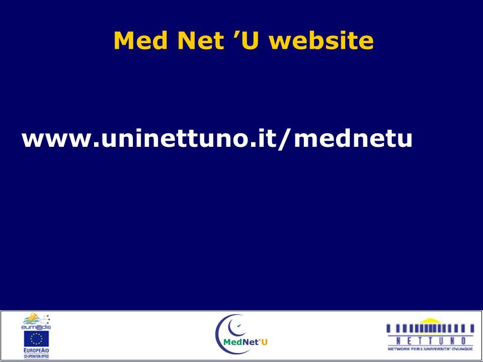 Med Net U website www.uninettuno.it/mednetu