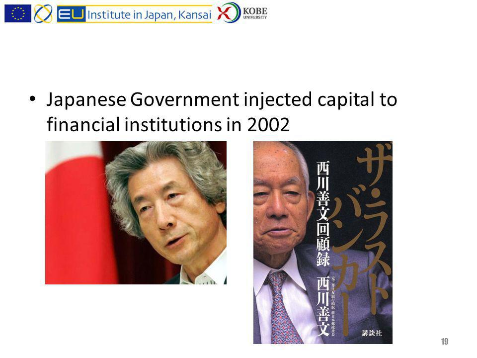 Japanese Government injected capital to financial institutions in