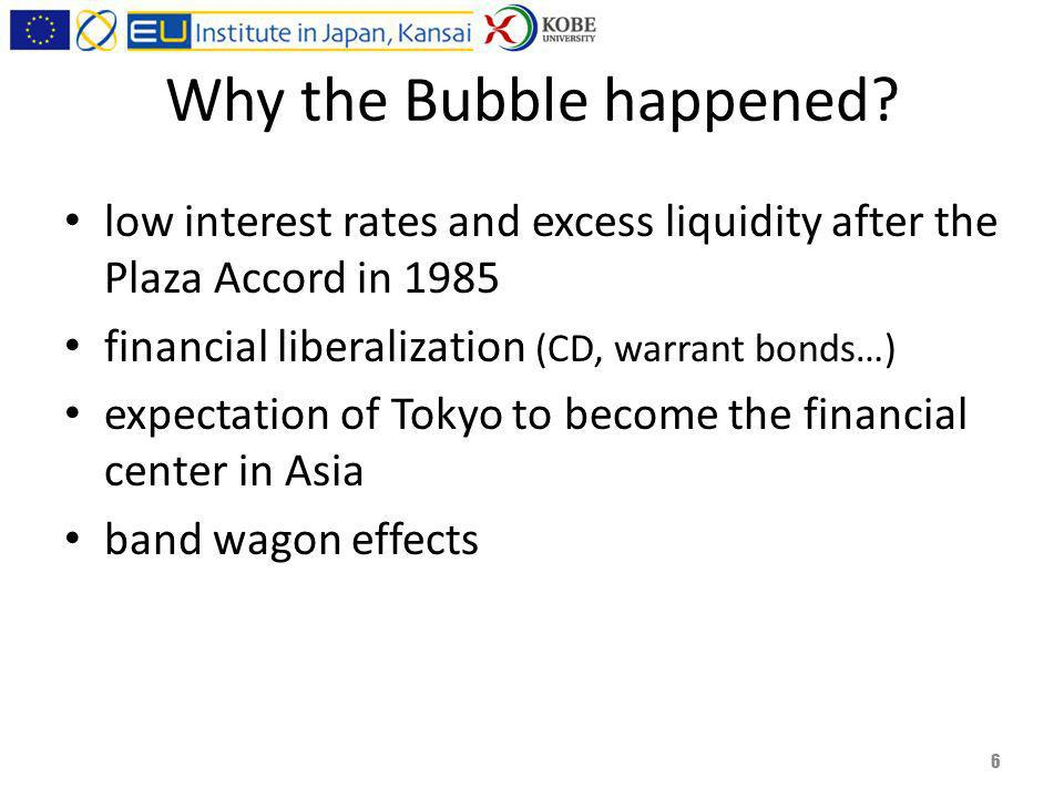 Why the Bubble happened.