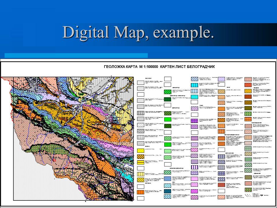 Digital Map, example.