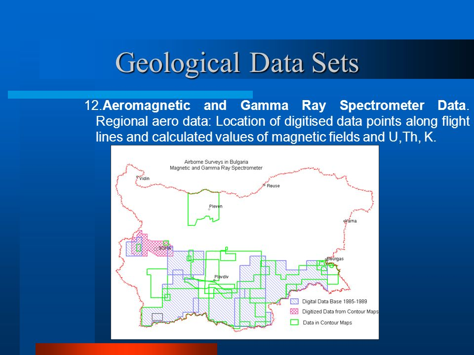 Geological Data Sets 12.Aeromagnetic and Gamma Ray Spectrometer Data.