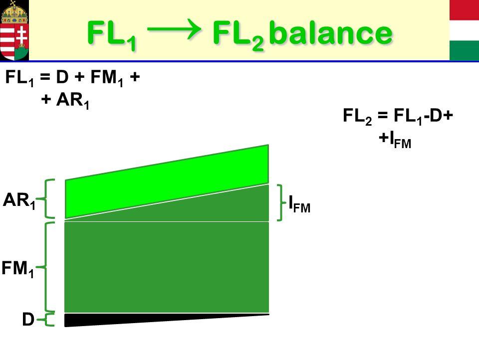 FL 1 FL 2 balance FM 1 I FM AR 1 D FL 1 = D + FM 1 + + AR 1 FL 2 = FL 1 -D+ +I FM