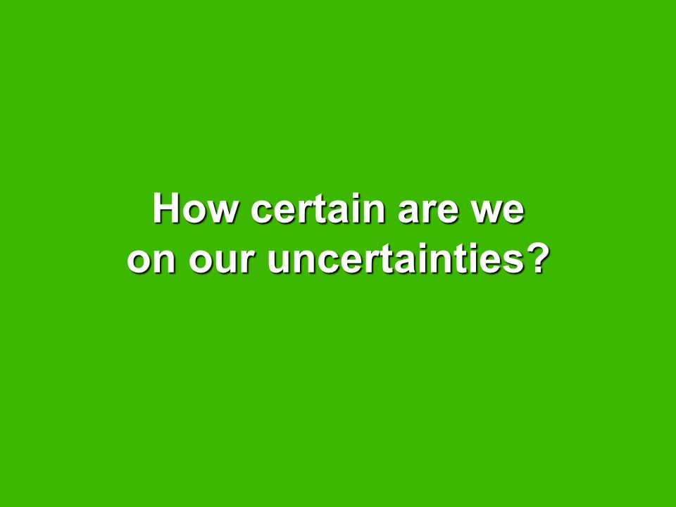 How certain are we on our uncertainties