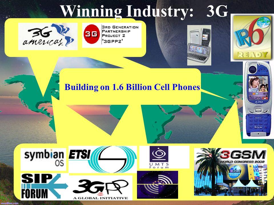 Winning Industry: 3G Building on 1.6 Billion Cell Phones