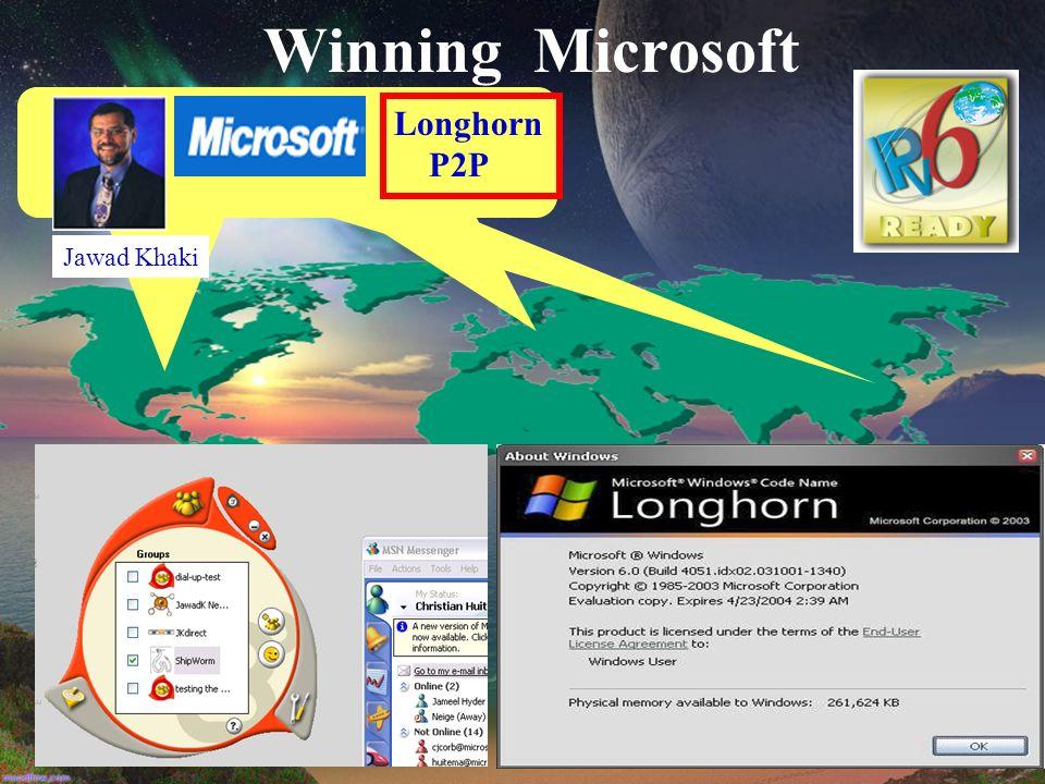 Winning Microsoft Longhorn P2P Jawad Khaki