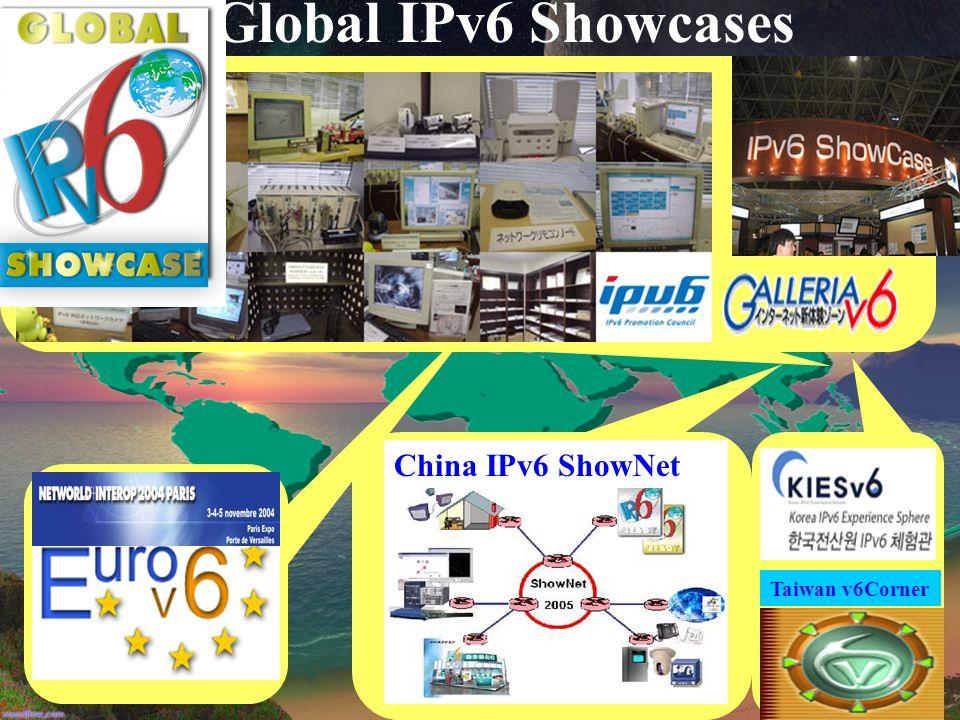 Global IPv6 Showcases China IPv6 ShowNet Taiwan v6Corner