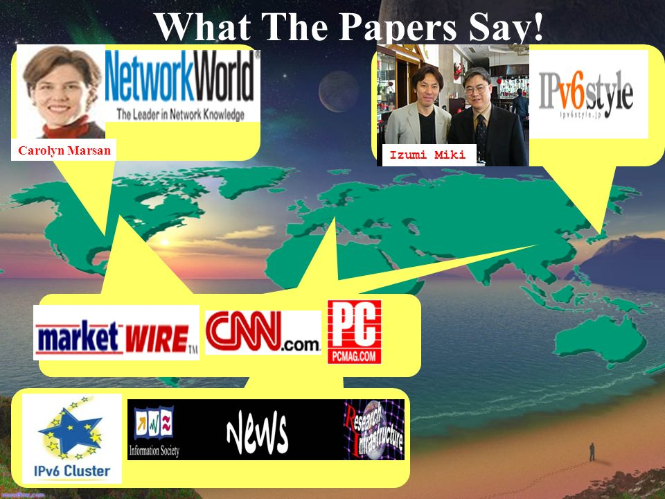 What The Papers Say! Carolyn Marsan Izumi Miki