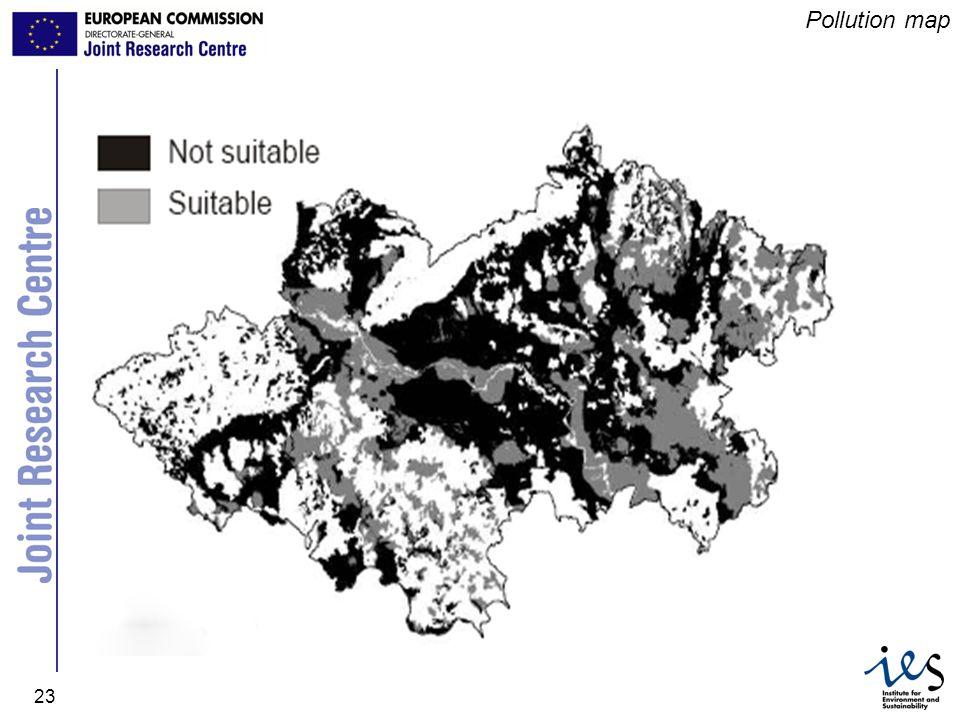 JRC Ispra - IES 23 Pollution map