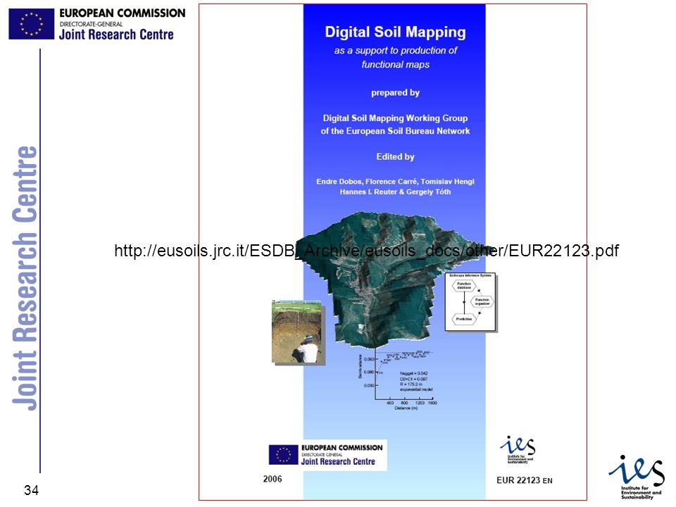 JRC Ispra - IES 34 http://eusoils.jrc.it/ESDB_Archive/eusoils_docs/other/EUR22123.pdf