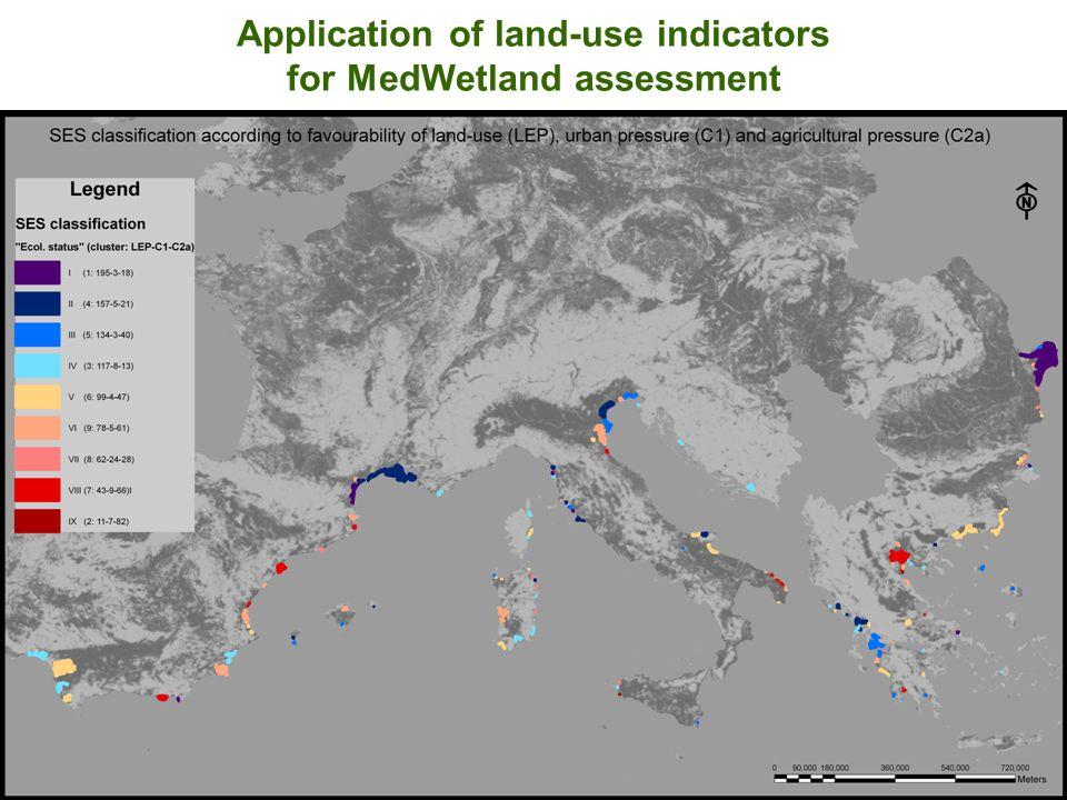 Application of land-use indicators for MedWetland assessment