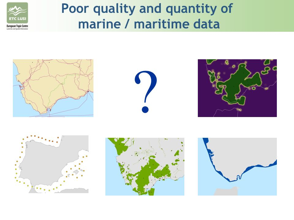 Poor quality and quantity of marine / maritime data