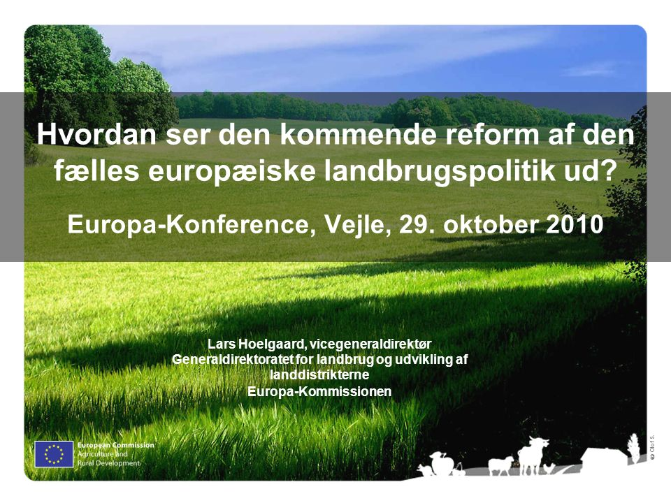 2 Importance of agriculture in the EU territory 13.7 million farms (70% with less than 5 ha) The agrifood sector has 17.5 million employees (7.7% of total employment)