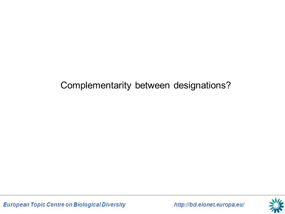 Complementarity between designations