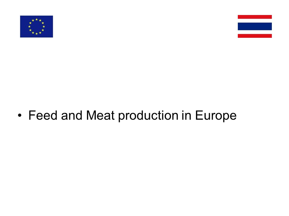 Feed and Meat production in Europe