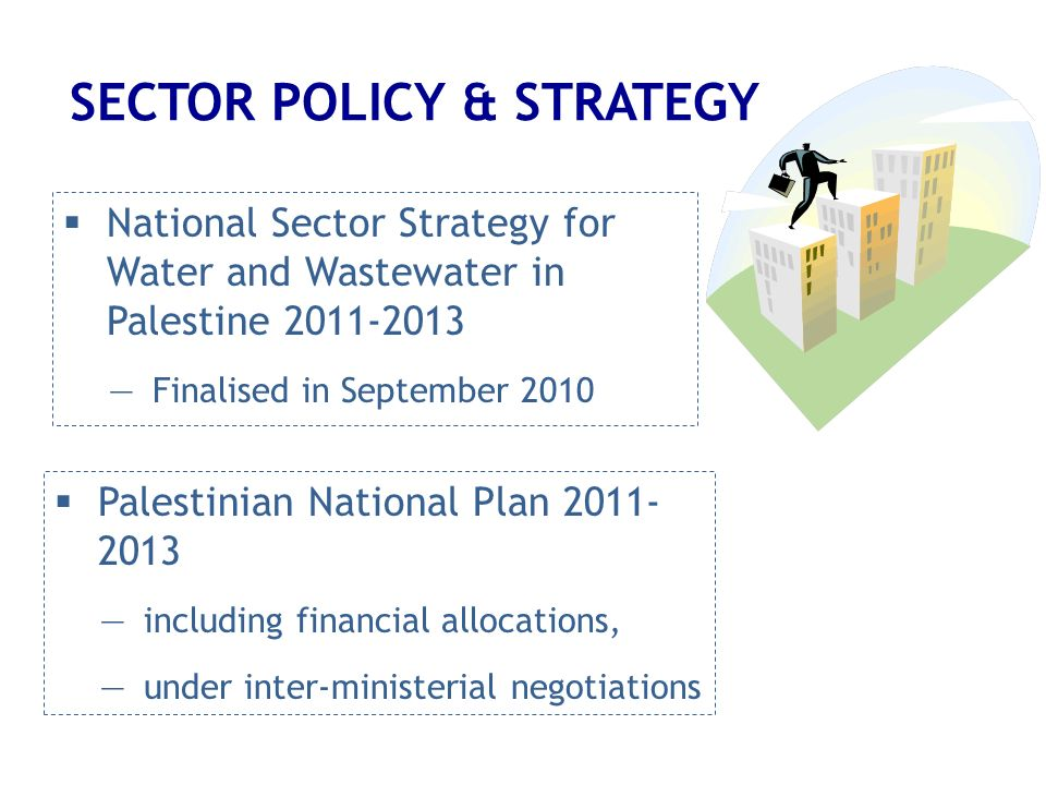 SECTOR POLICY & STRATEGY National Sector Strategy for Water and Wastewater in Palestine 2011-2013 Finalised in September 2010 Palestinian National Pla