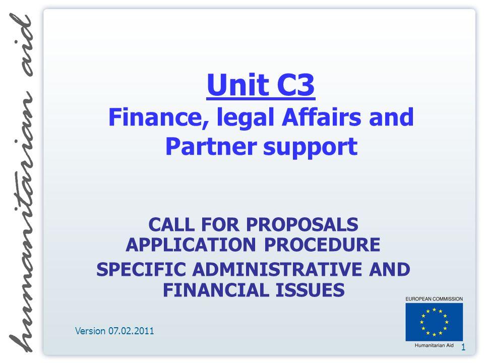 12 Contact persons Website: http://ec.europa.eu/echo/aid/evhac_en.htm Legal desk officer: Mrs.