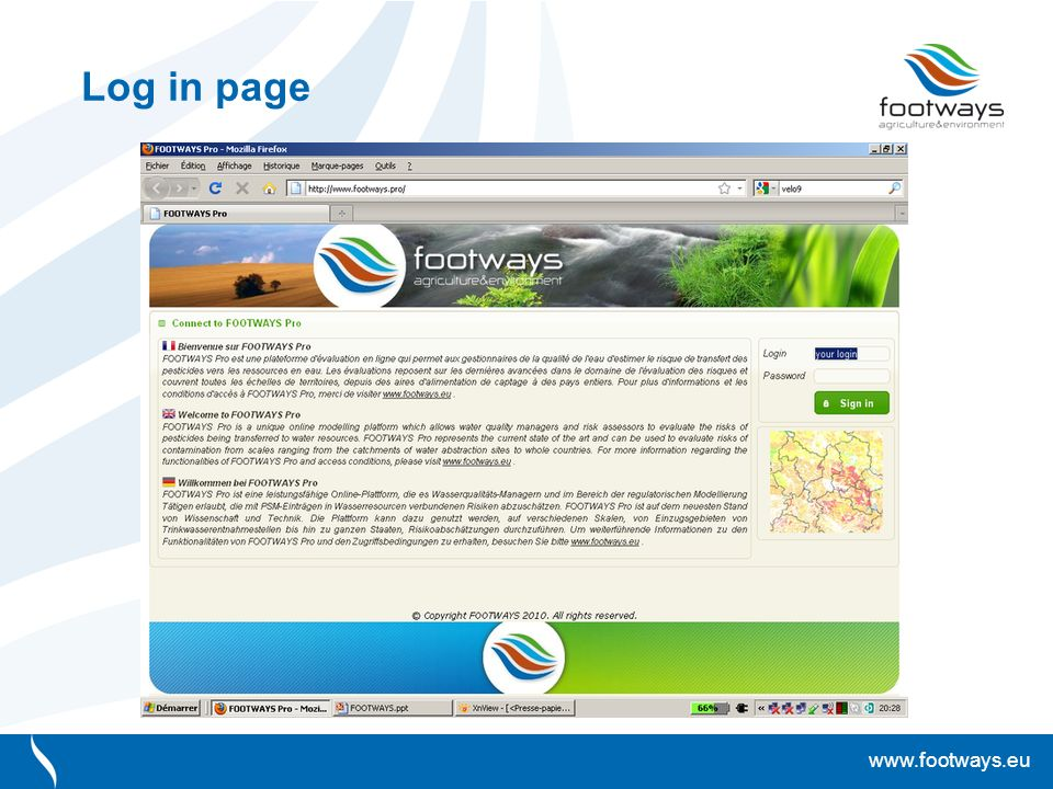www.footways.eu Log in page