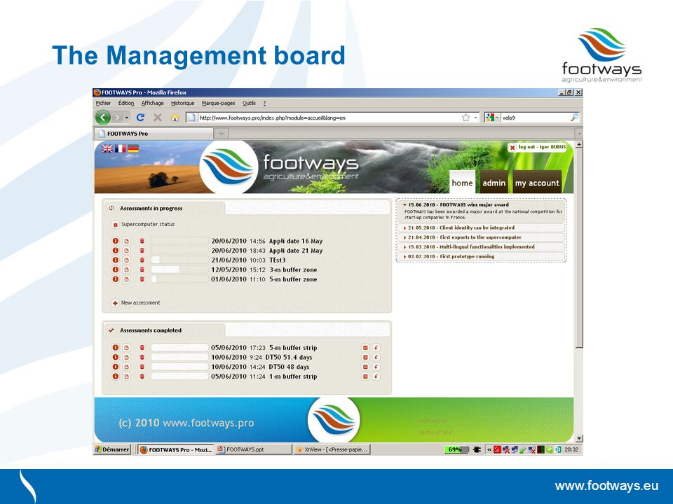 www.footways.eu The Management board