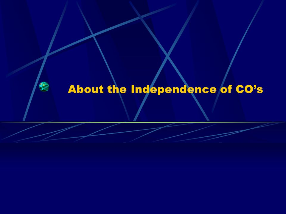 About the Independence of COs