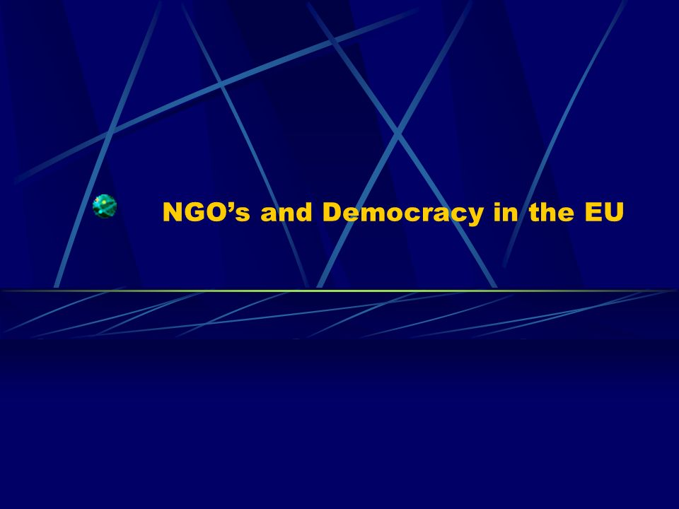 NGOs and Democracy in the EU