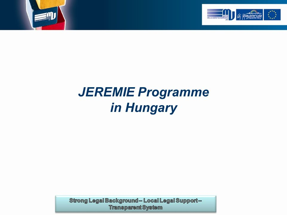 JEREMIE Programme in Hungary