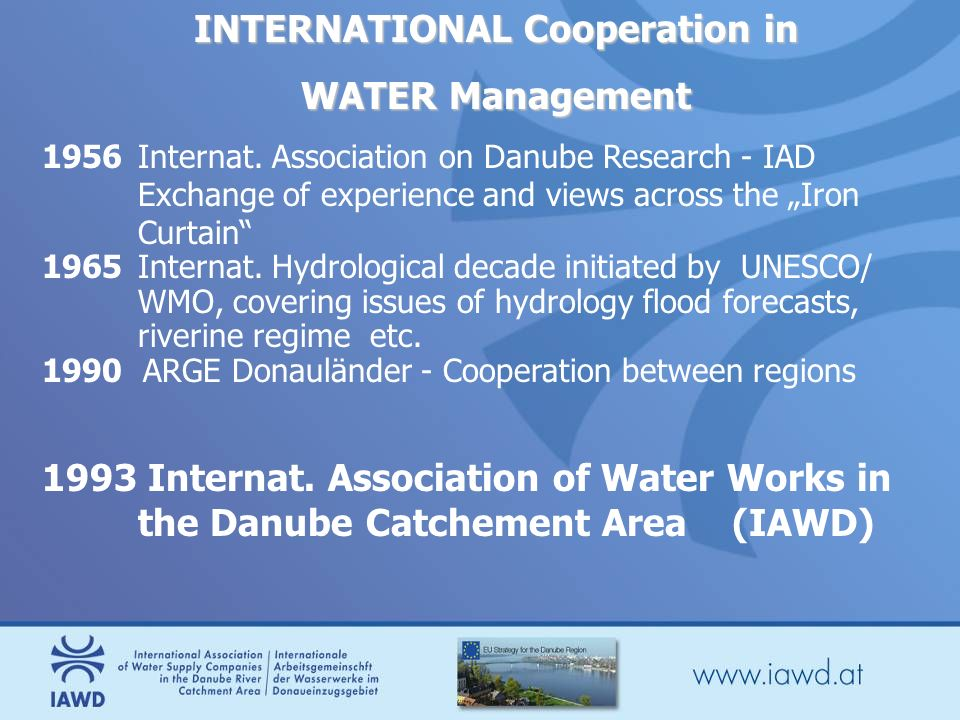 INTERNATIONAL Cooperation in WATER Management 1956Internat.
