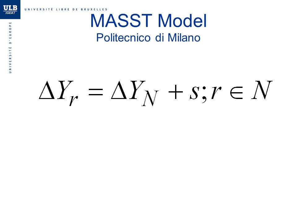 MASST Model Politecnico di Milano