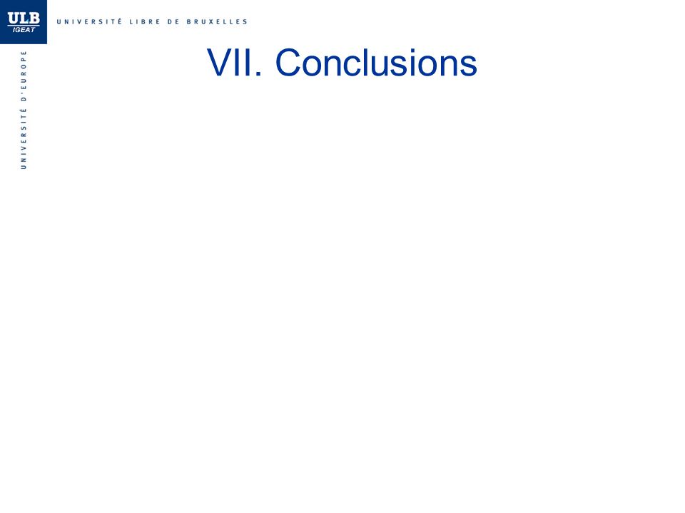 VII. Conclusions