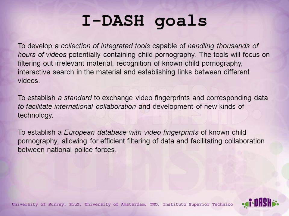 University of Surrey, ZiuZ, University of Amsterdam, TNO, Instituto Superior Technico I-DASH goals To develop a collection of integrated tools capable