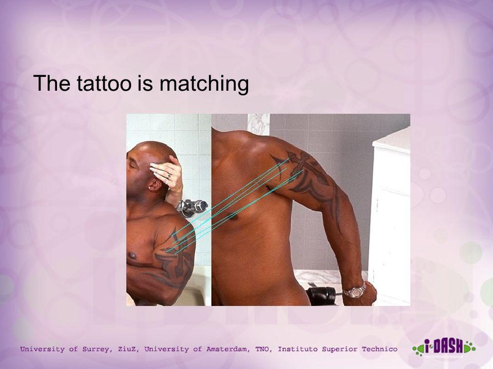 University of Surrey, ZiuZ, University of Amsterdam, TNO, Instituto Superior Technico The tattoo is matching